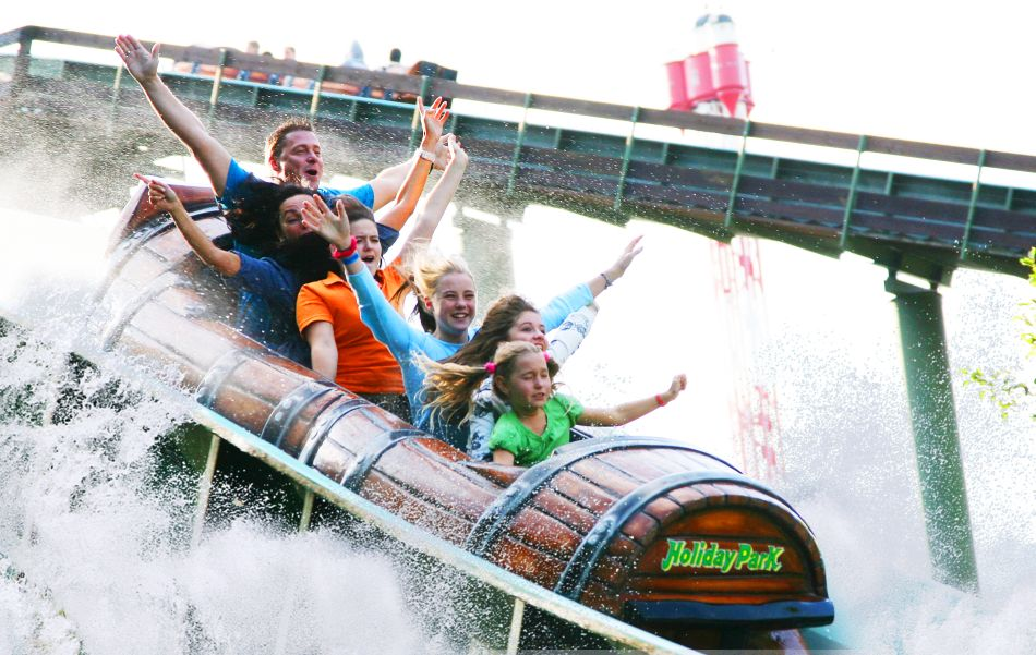 Die Wildwasserbahn Wickie Splash im Holiday Park Haßloch © Plopsa